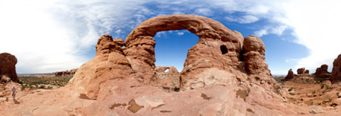 Turret Arch, Arches Nationalpark – Kugelpanorama