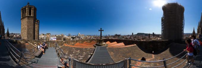 Auf dem Dach der Kathedrale in Barcelona – Kugelpanorama