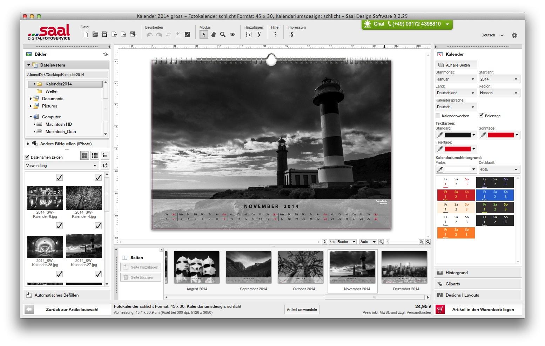 Fotokalender von fotoservice saal digital dvlw dirk for Kalender design