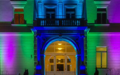 Eingang Palmenhaus Winterlichter