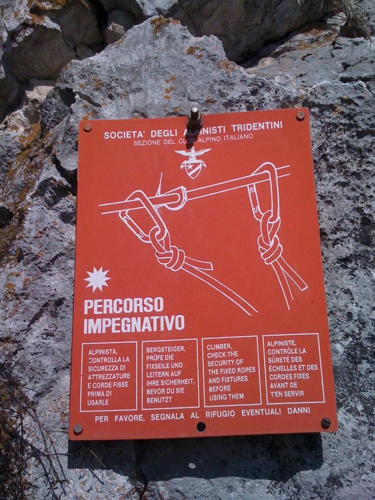 Einstieg zum Klettersteig