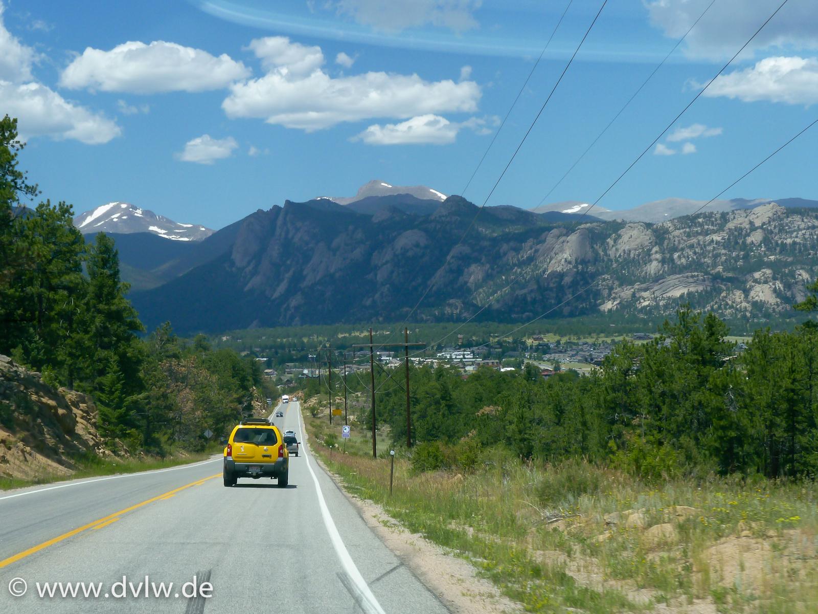Rocky Mountains - Kurz vor Estes Park