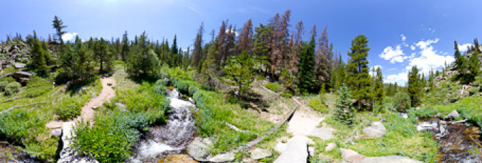 Boulder Brook, Rocky Mountains – Kugelpanorama