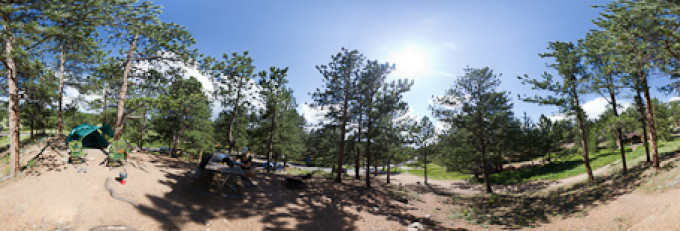 Moraine Park Campground, Rocky Mountains – Kugelpanorama