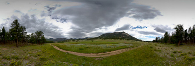 Beaver Meadows, Rocky Mountains – Kugelpanorama