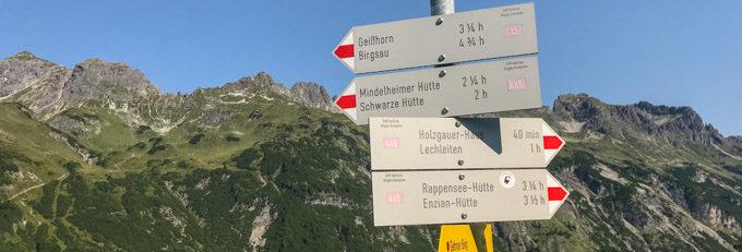 Hüttenwanderung über den Allgäuer Höhenweg
