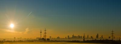 Sonnenaufgang über FFM